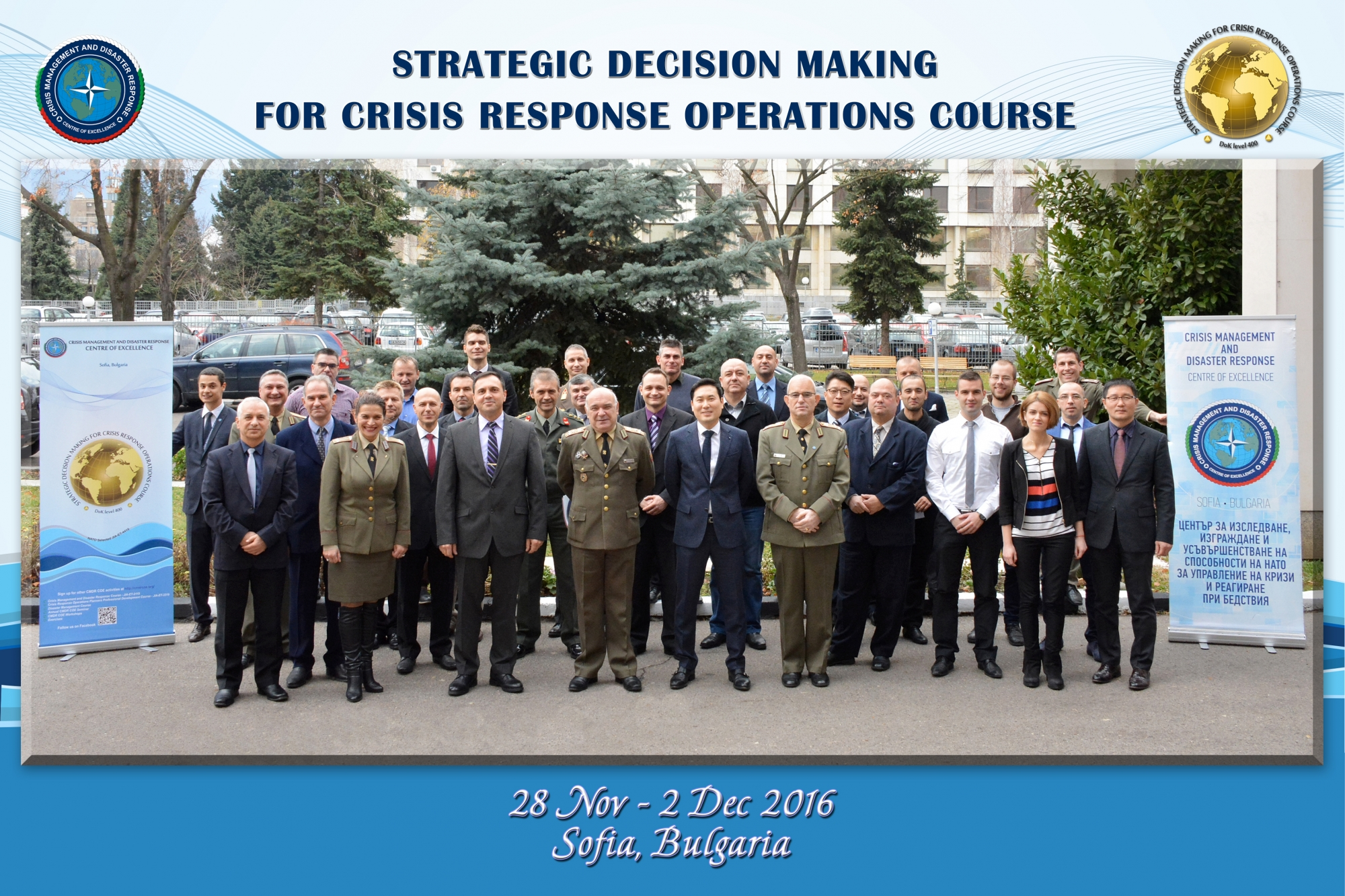 Strategic Decision Making for Crisis Response Operations Course draws to a close