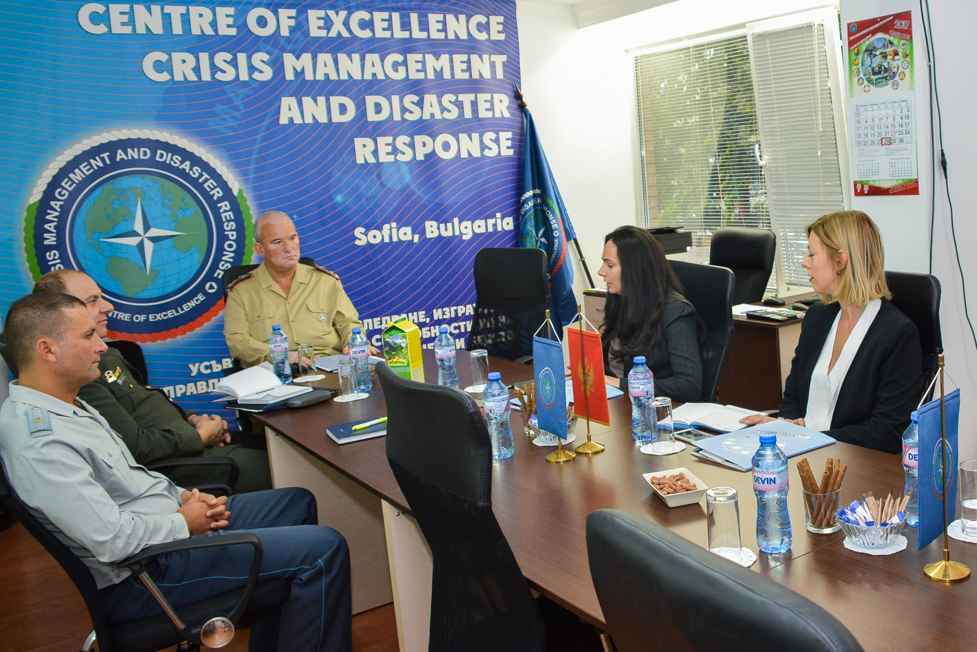 Montenegro Ministry of Defence Delegation Visits CMDR COE