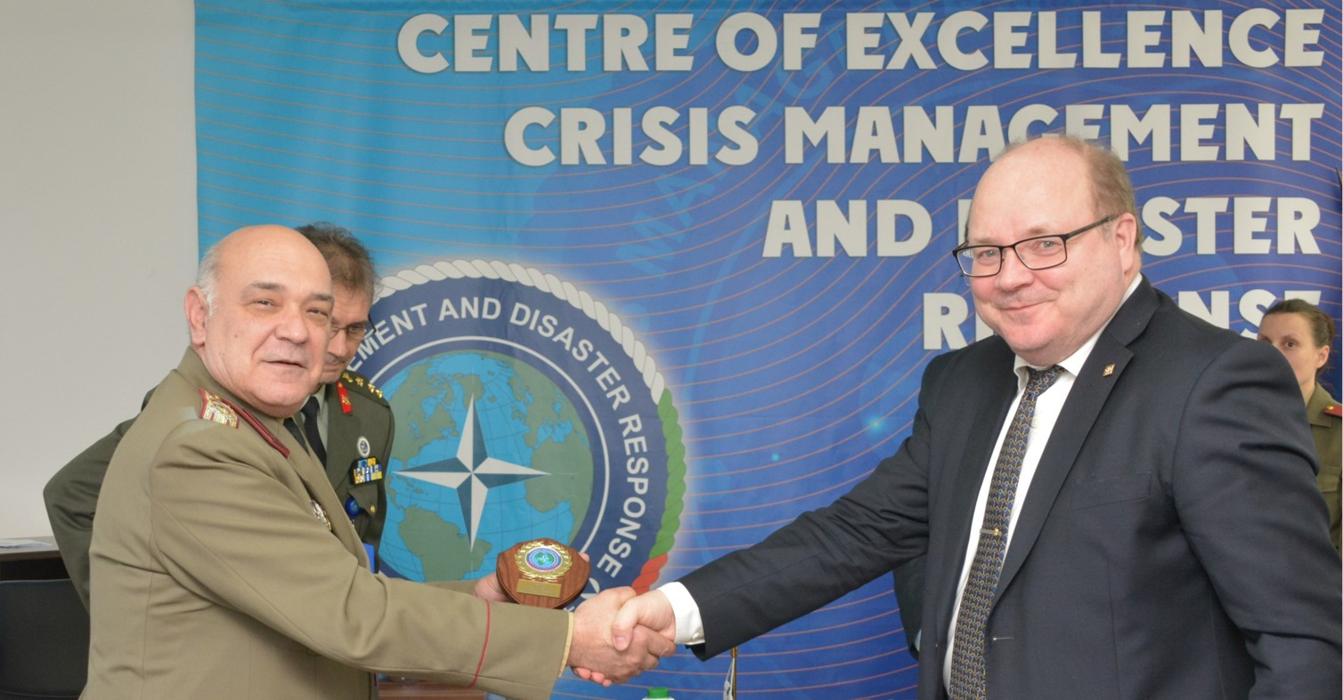 CMDR COE Welcomes the European Centre of Excellence for Countering Hybrid Threats Director Dr. Matti SAARELAINEN