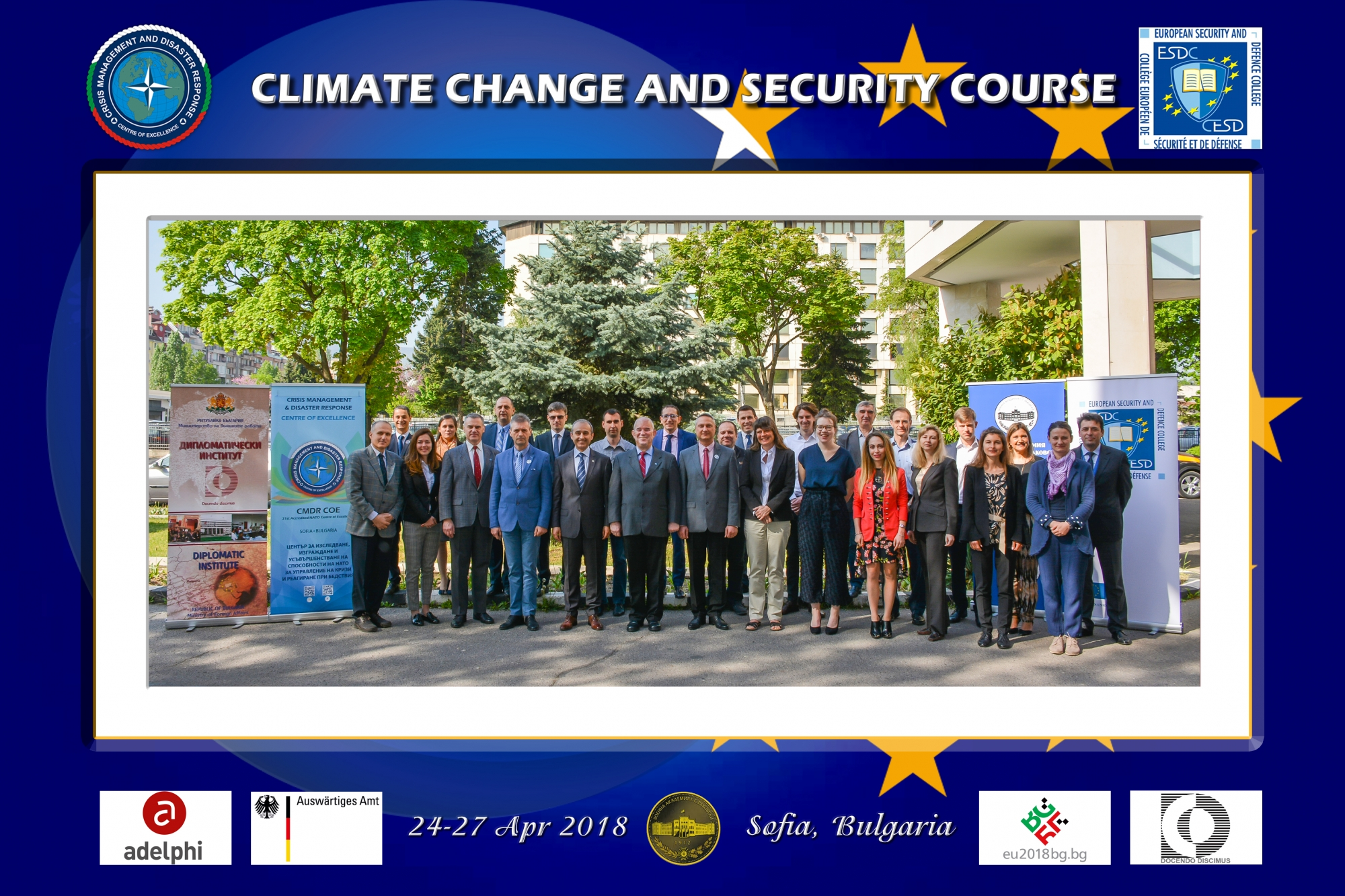 Productive discussions and excellent feedback received from Climate Change and Security Pilot Course