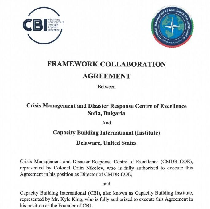 Agreement Signed with Capacity Building International Institute, USA