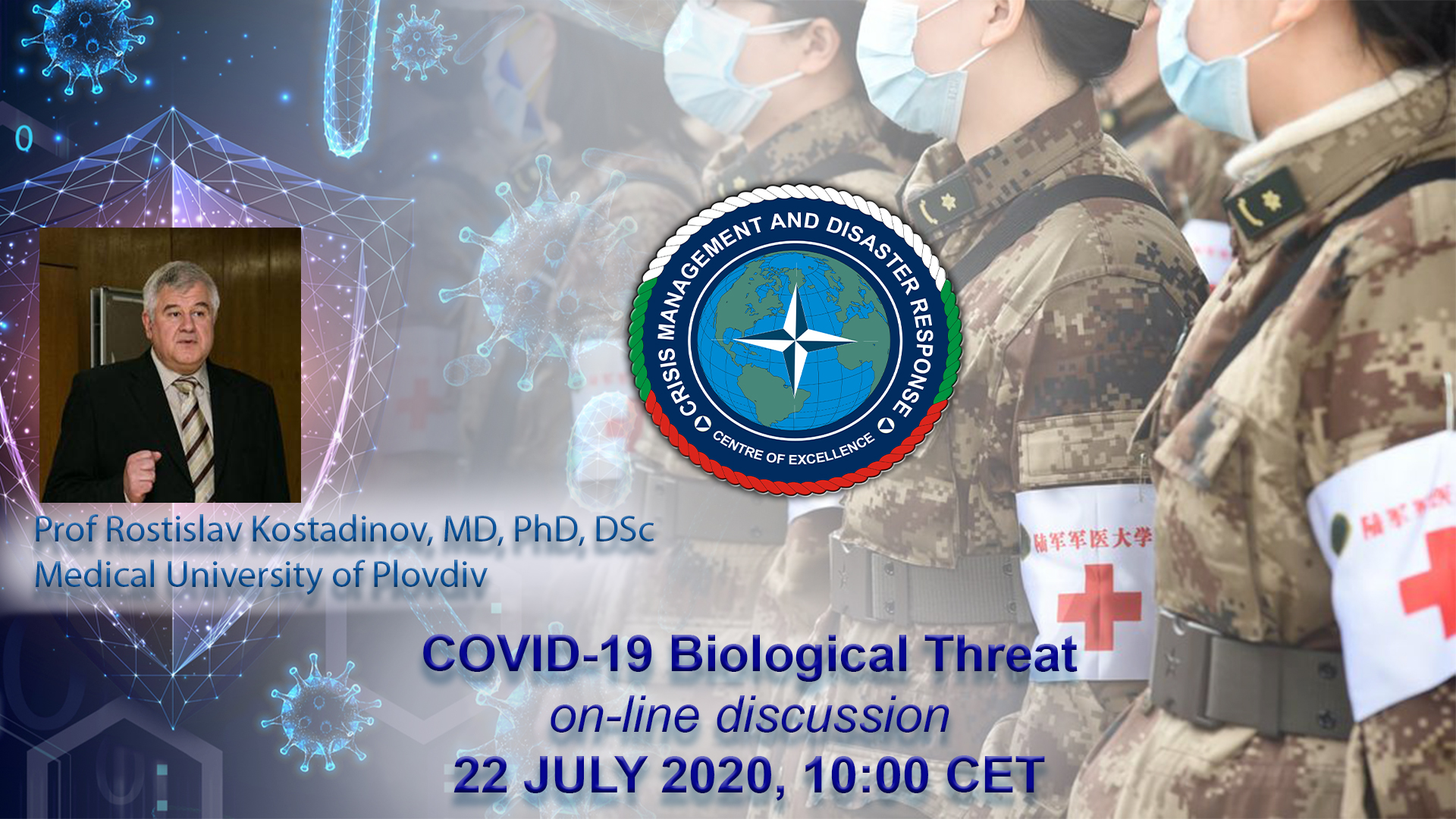 "On-line discussion on ""COVID-19 Biological Threat-Military Medical Challenges"""
